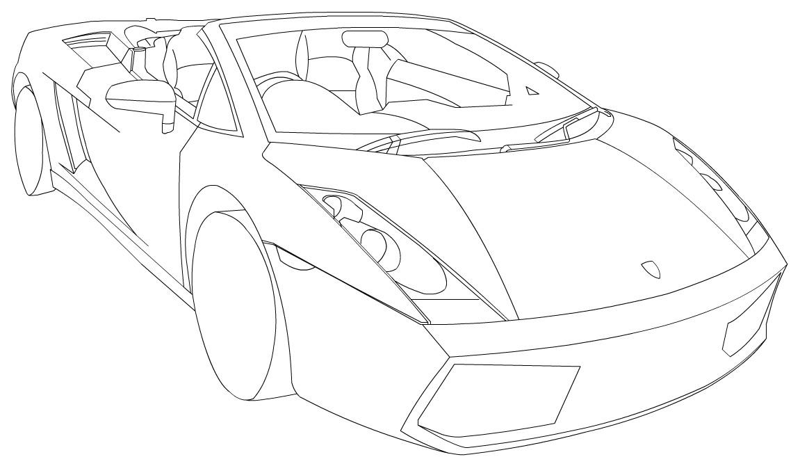 Lamborghini gallardo line-art