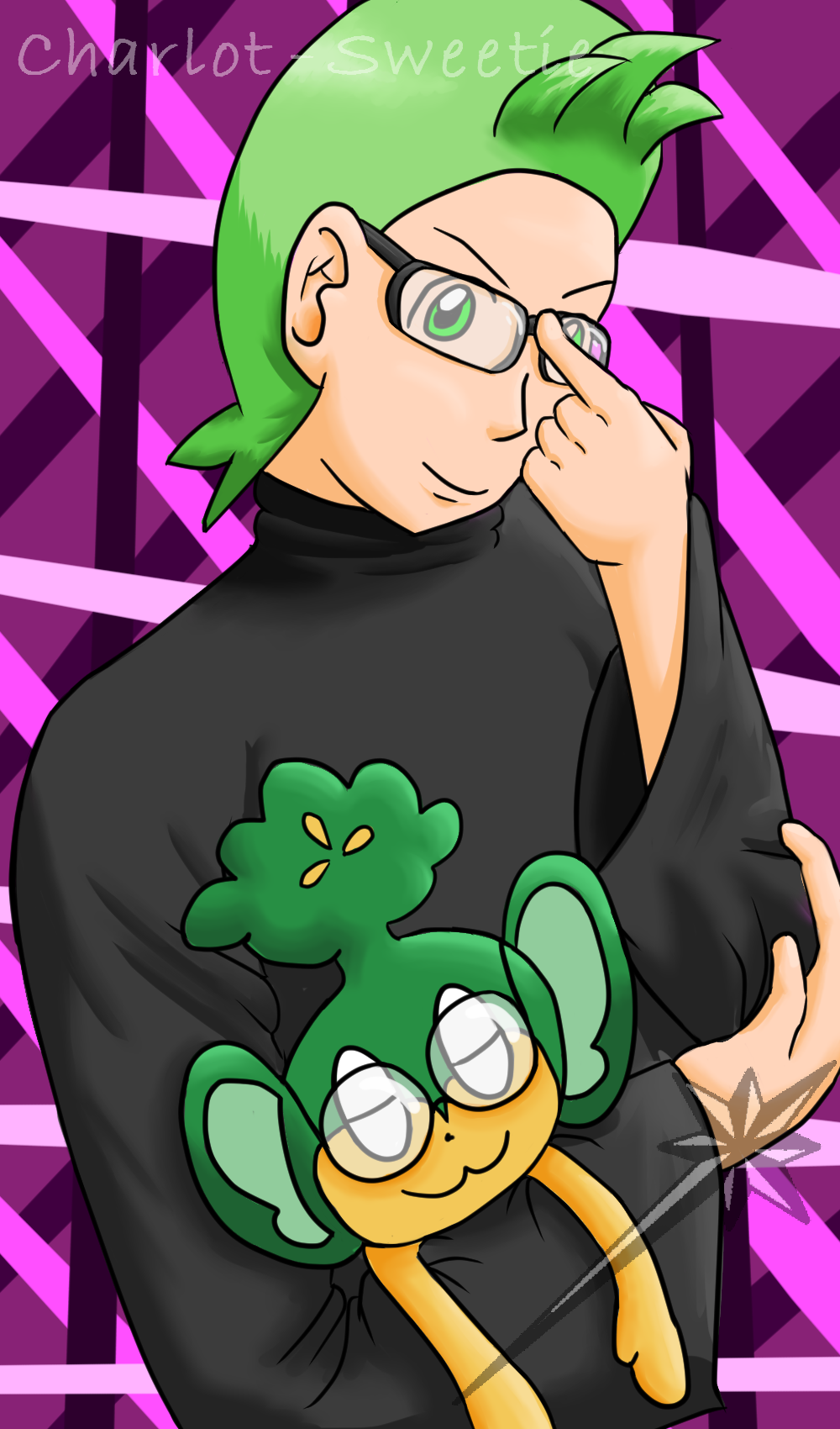 Cilan in glasses