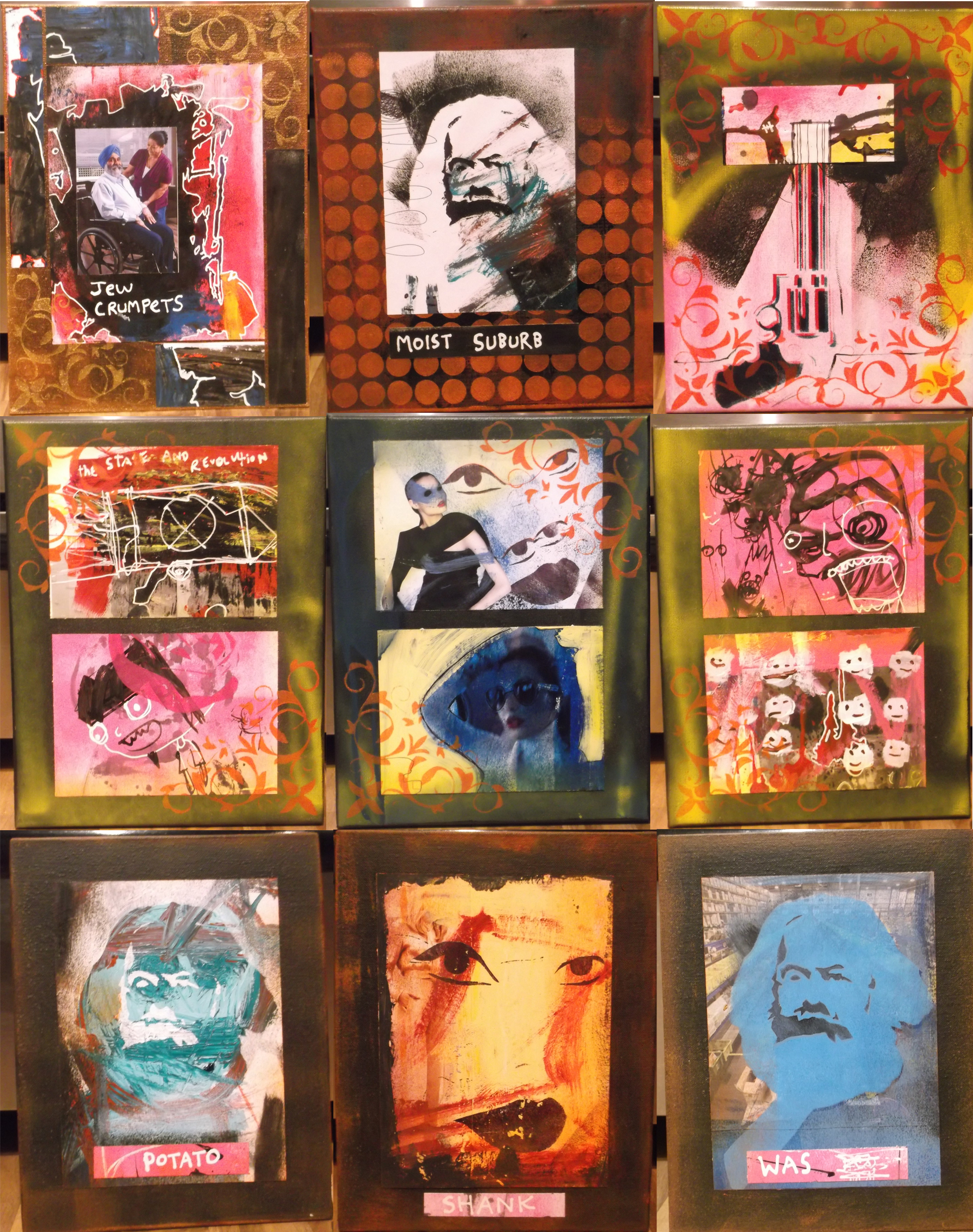 nine canvases