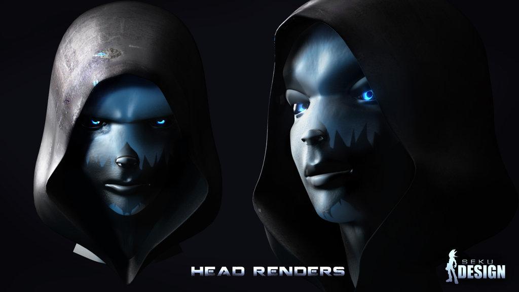 Zerith Head Model Render