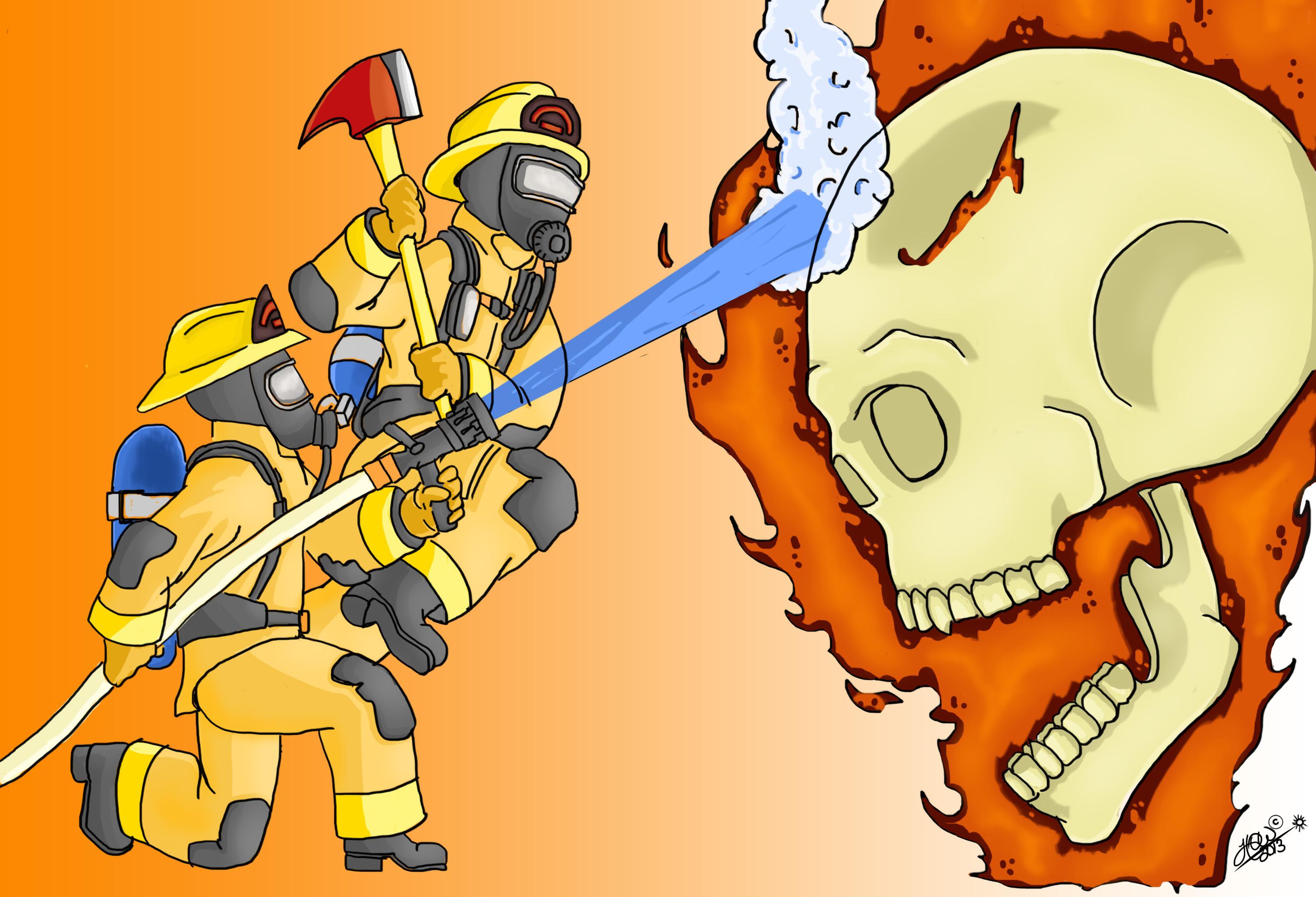 Flaming Skull COTM3