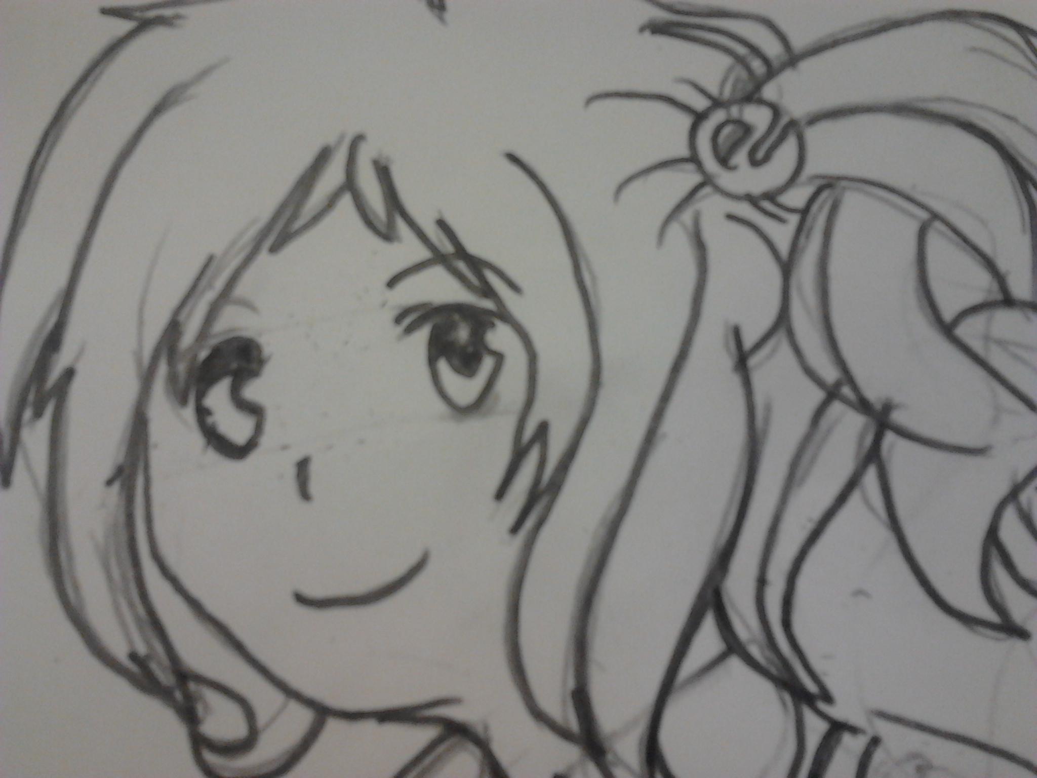 Drawing of Inori Aizawa