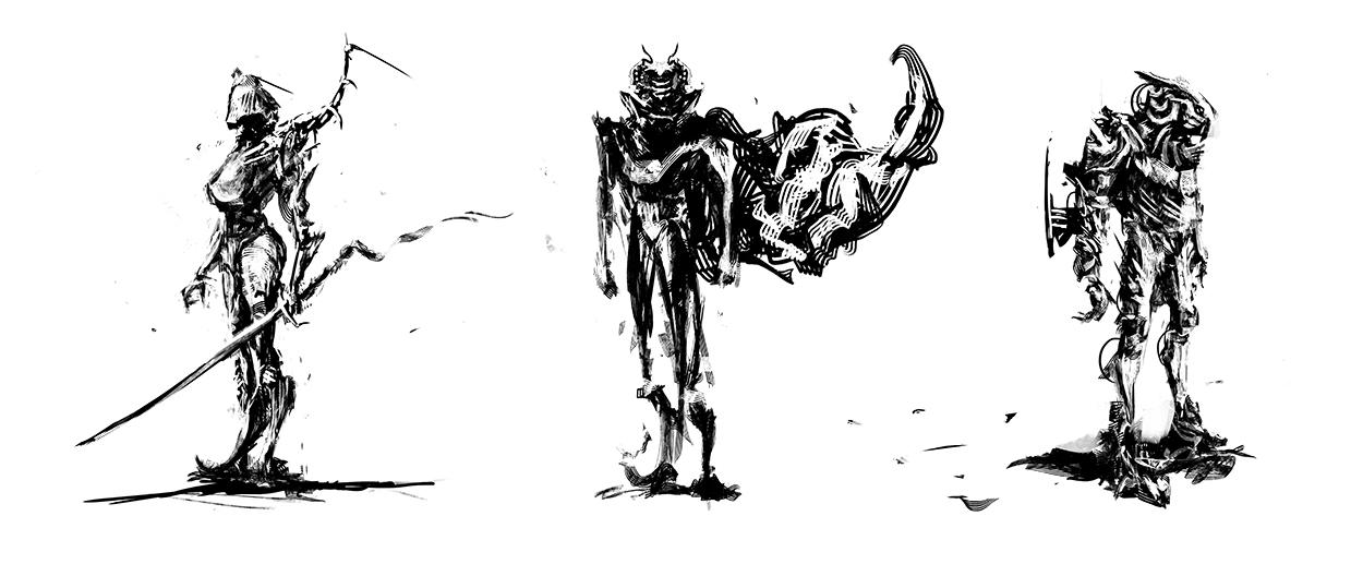 Robot Alien Sketches