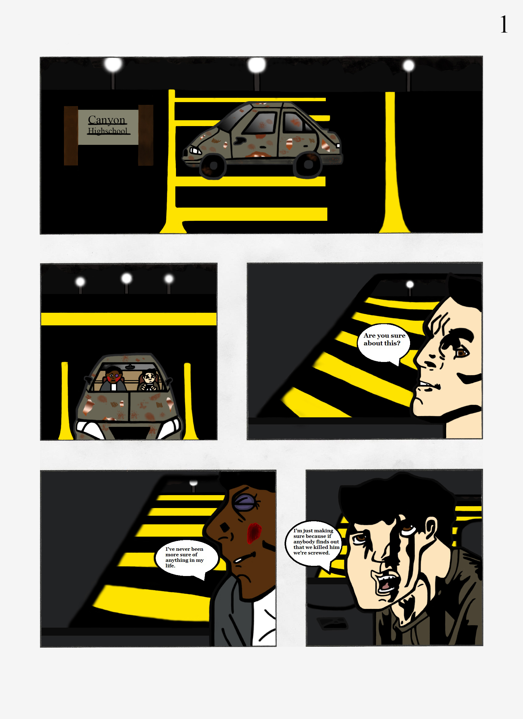 The Canyon High Killers page 1