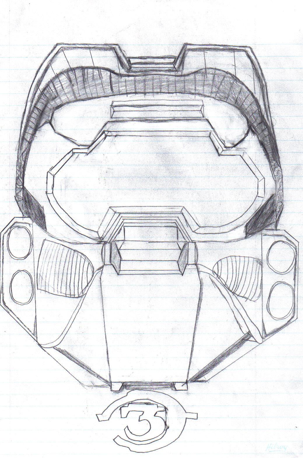 Halo Spartan Helmet Drawing