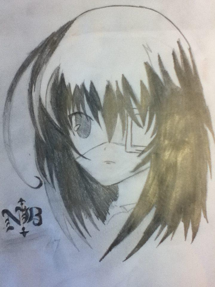 Misaki Mei (Pencil Sketch)