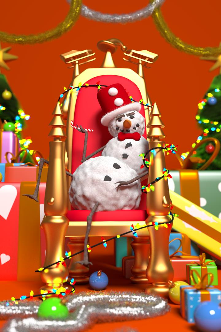 Slick Snowman