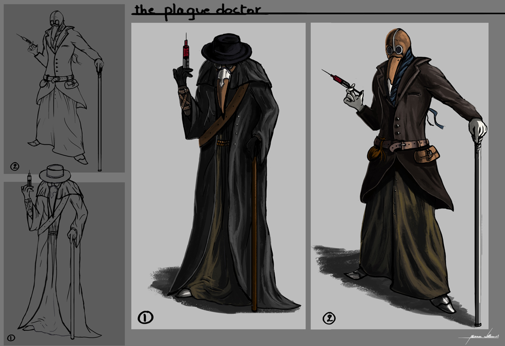Plague doctor concept art