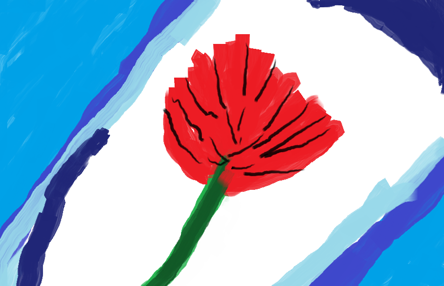 Digital Rose Portrait