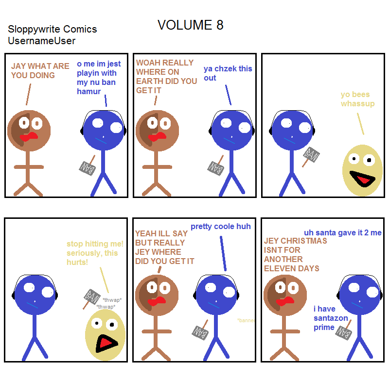 Sloppywrite Comics Vol. 8