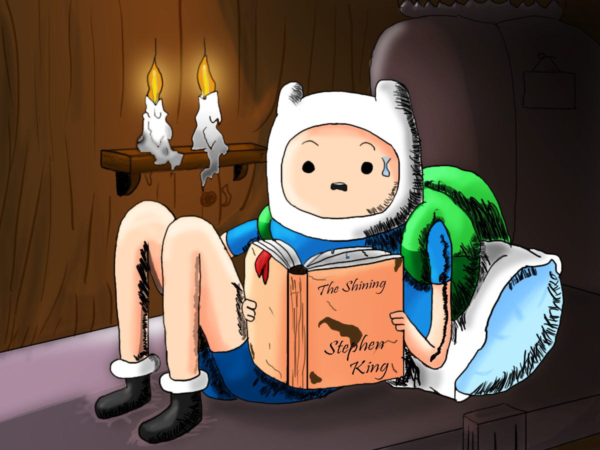 Adventure Time- Finn reading