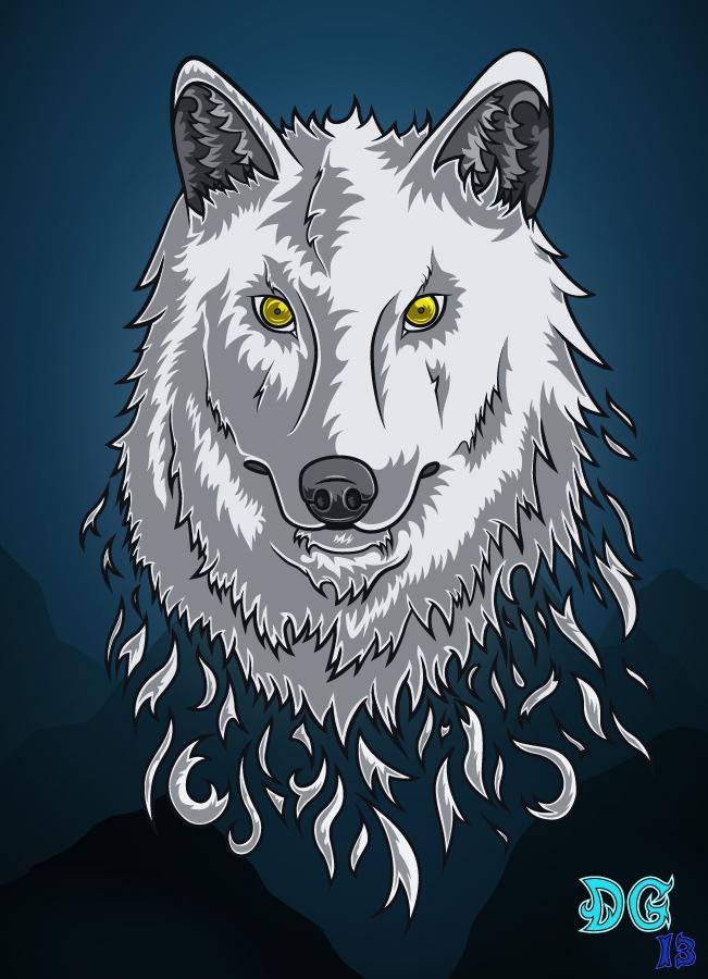 Dire Wolf Vector