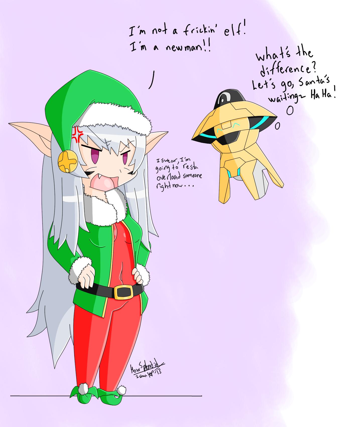 Christmas spirit colored