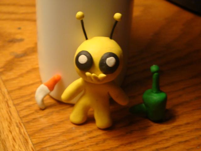 Clay Alien Hominid