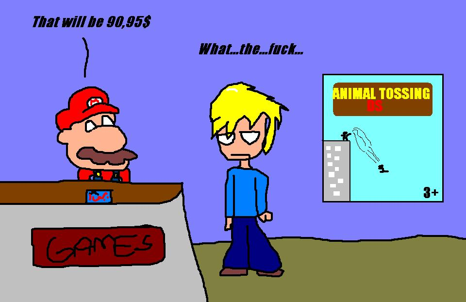 Mario works on the game store