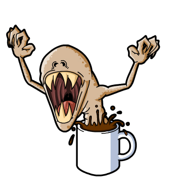 coffee monster by thepsychosheep on newgrounds