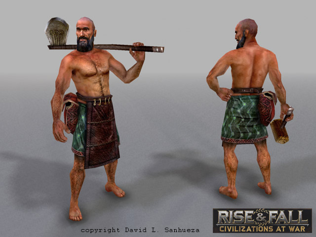 3D game character: Worker