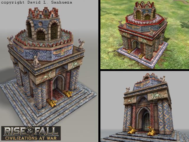 3D Game Model: Persian Temple