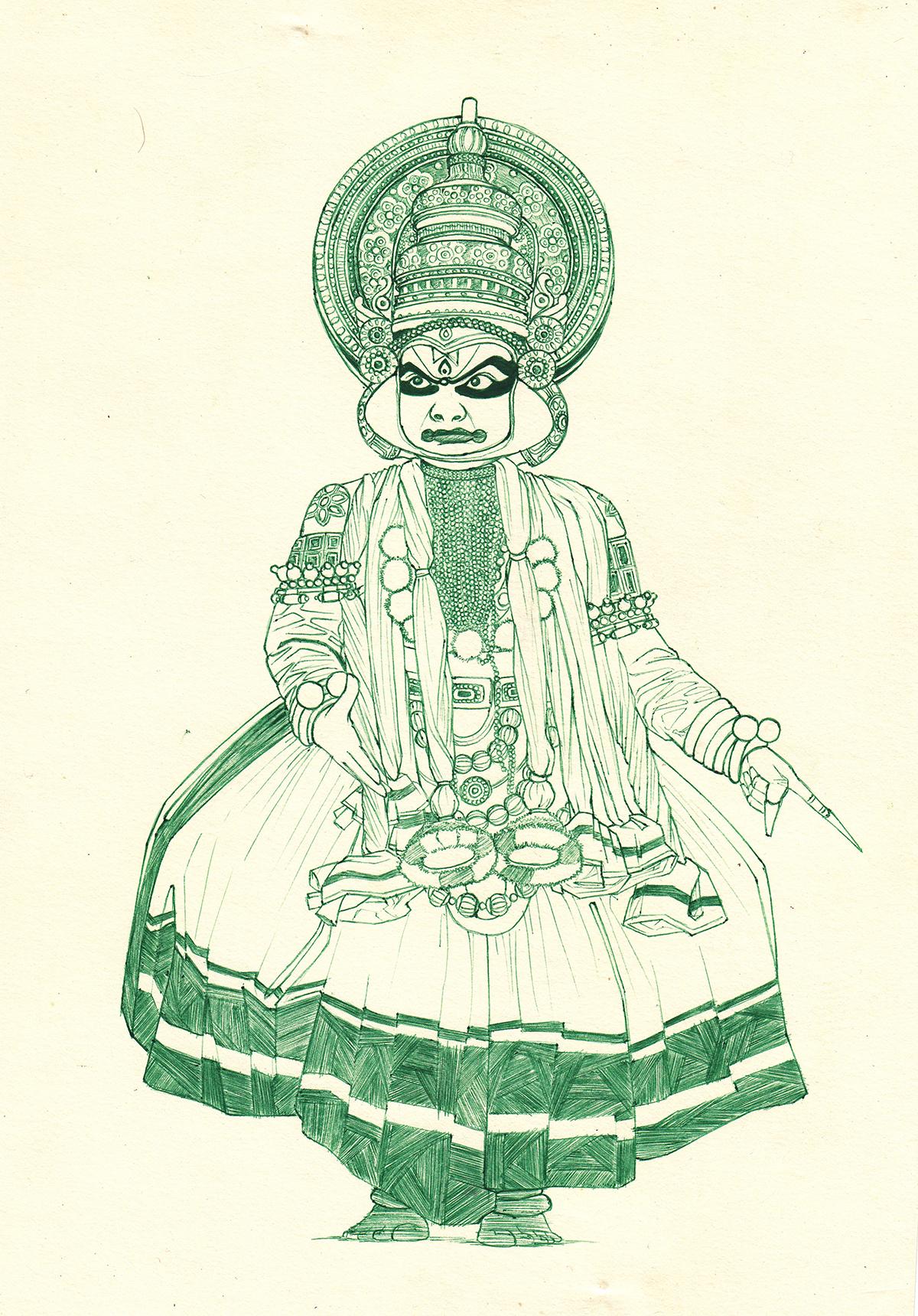 Saturday Art 6 Kathakali By Oye Lky On Newgrounds