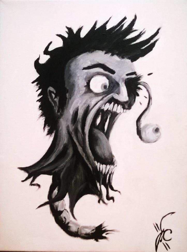 Zombie Head Acrylic