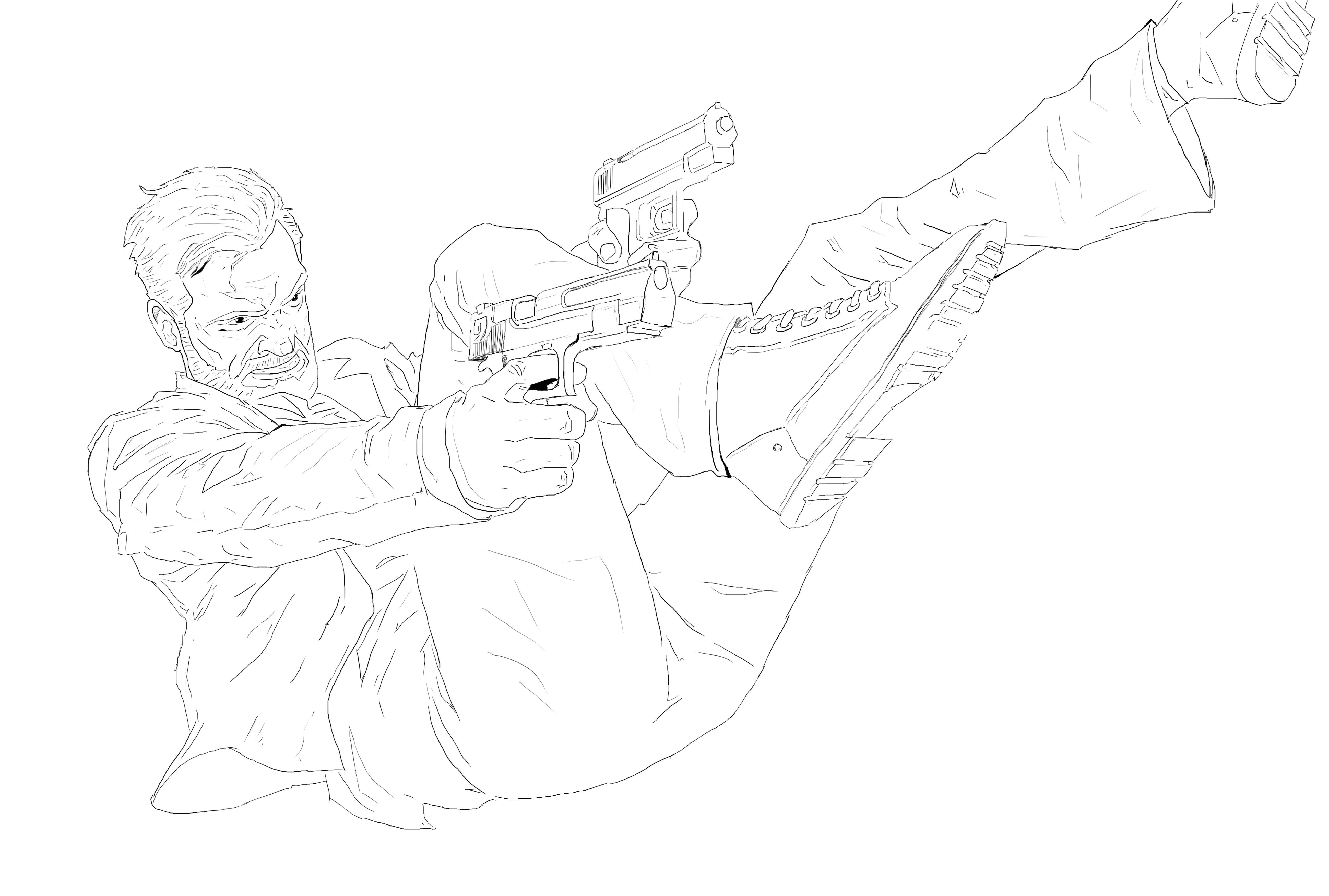 Max Payne 3 sketch