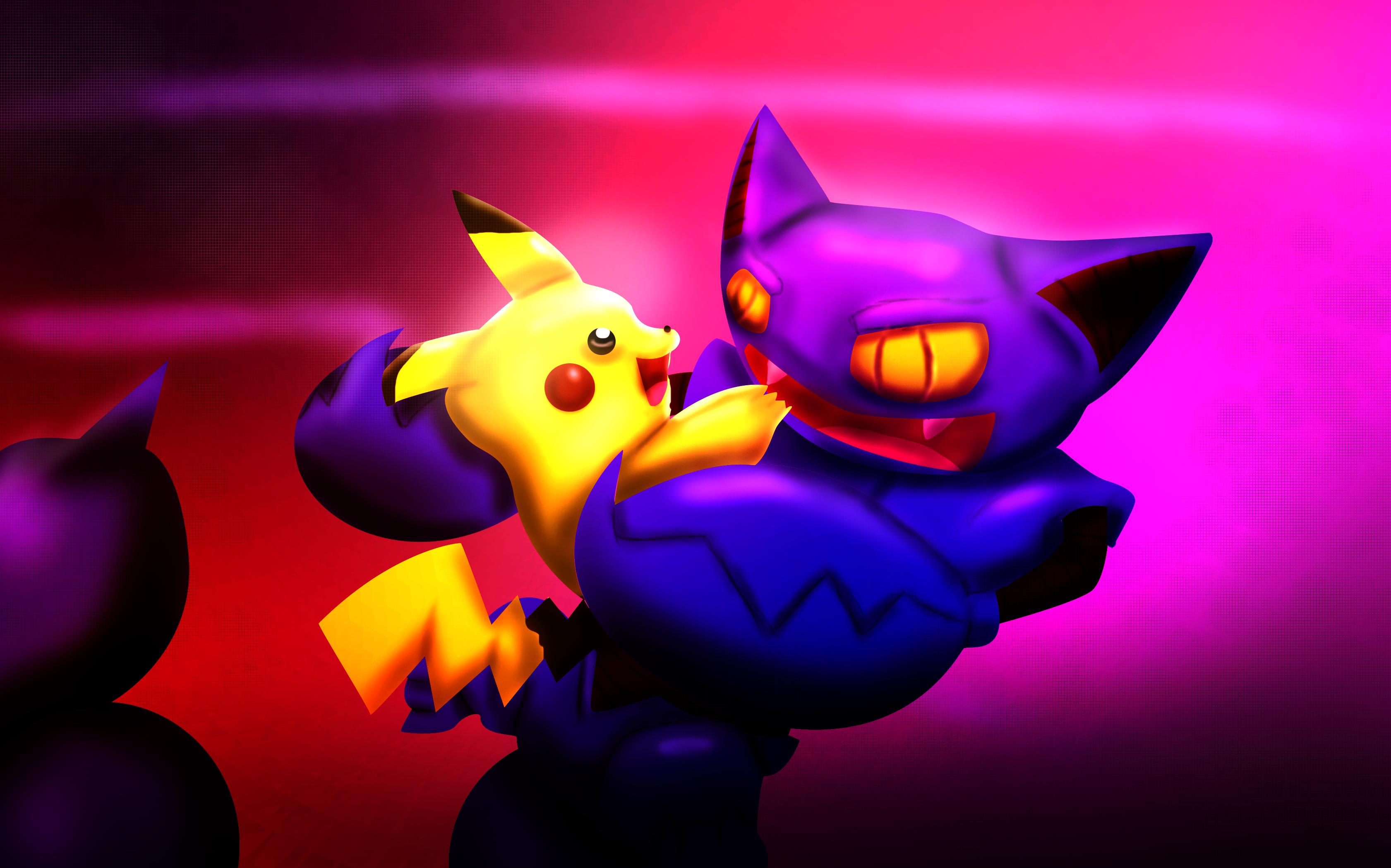 Gliscor and Pikachu
