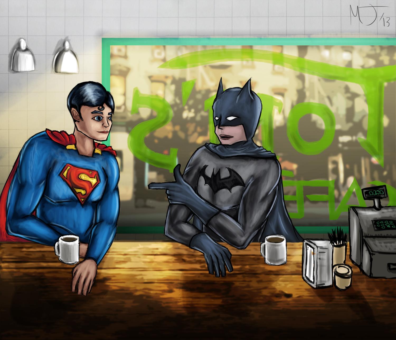 Batman & Superman Cafe Time