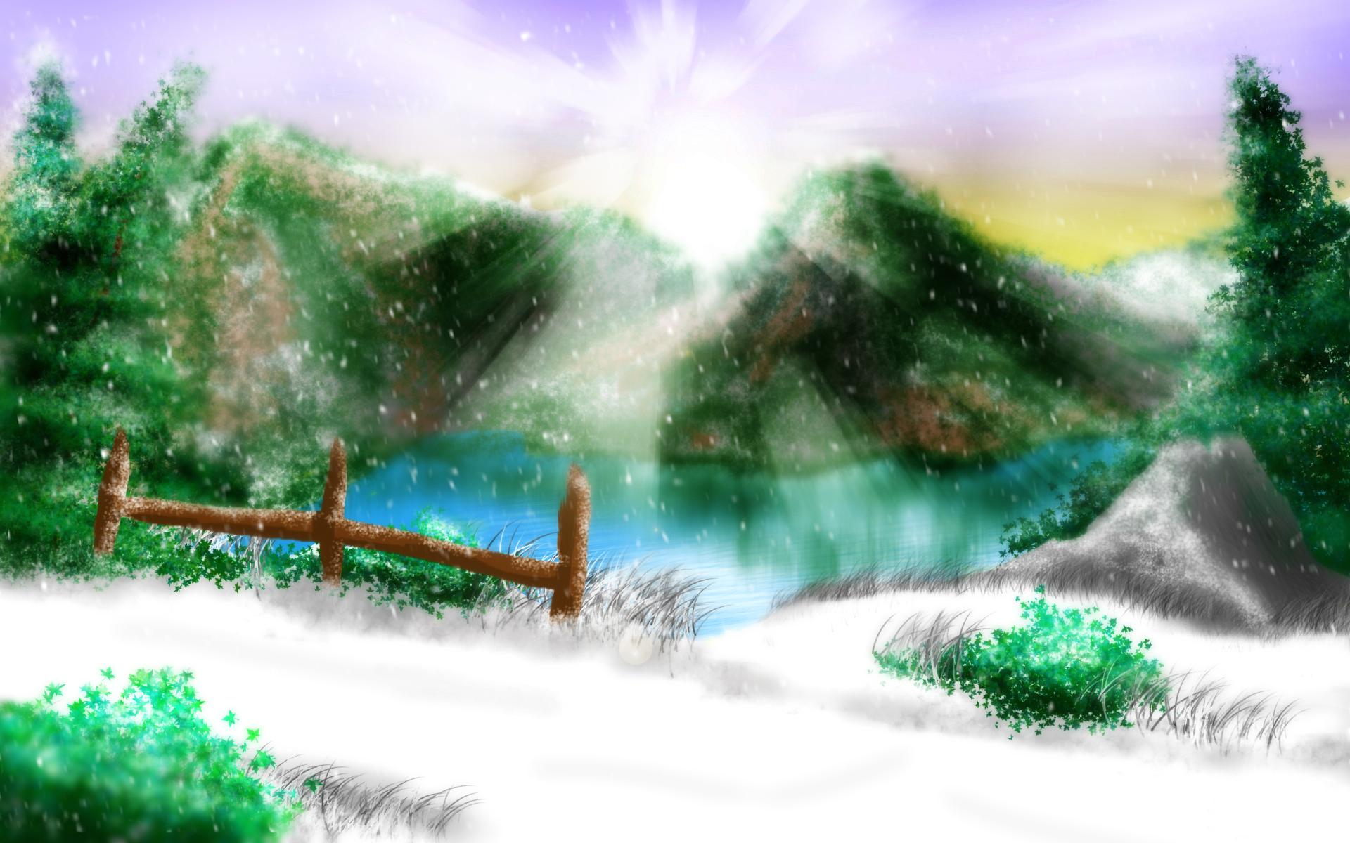 Snowy Mountain Overpass