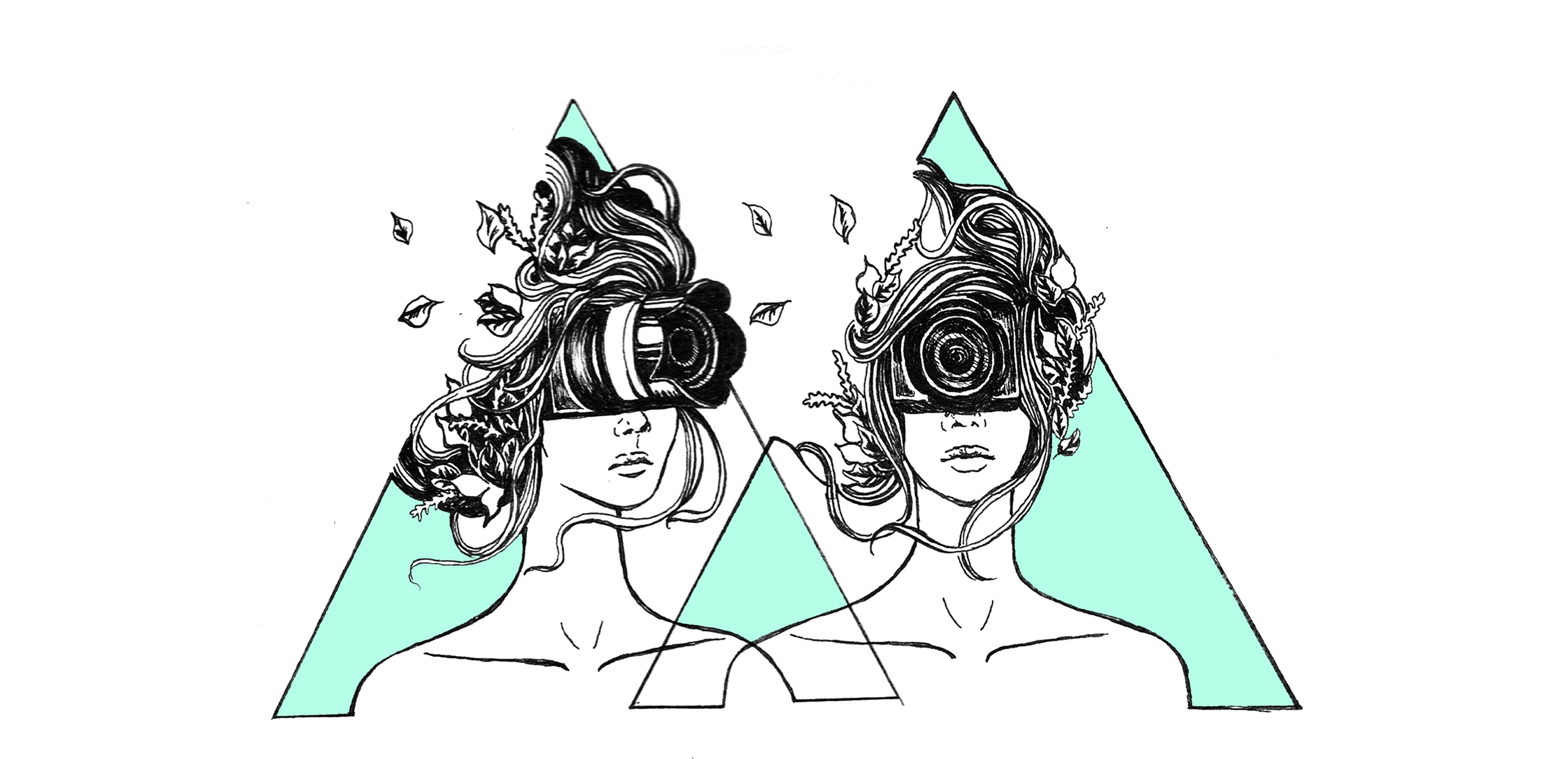 All seeing digital eye sisters