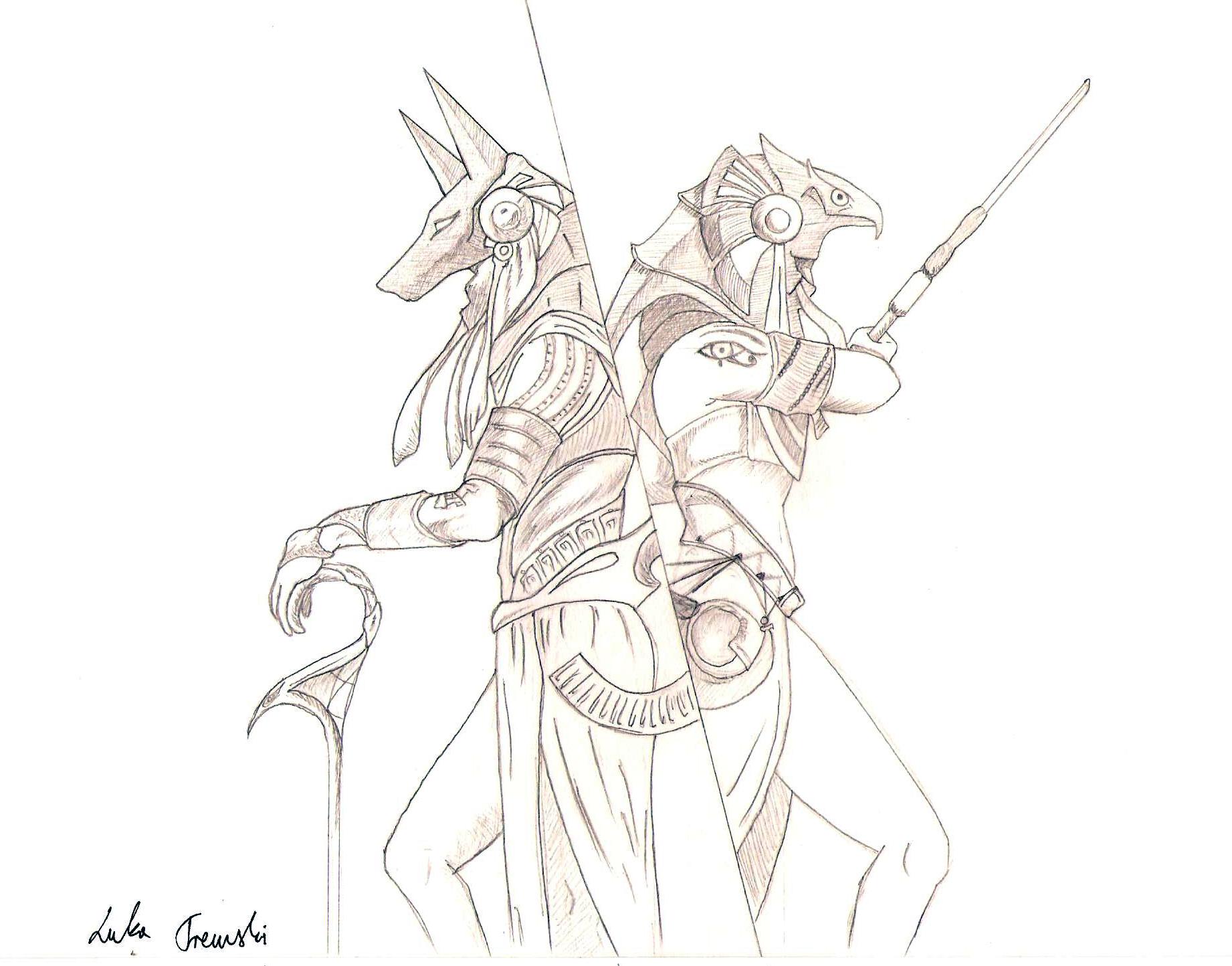 Anubis and Ra