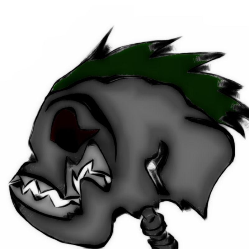 Mohawk Skull