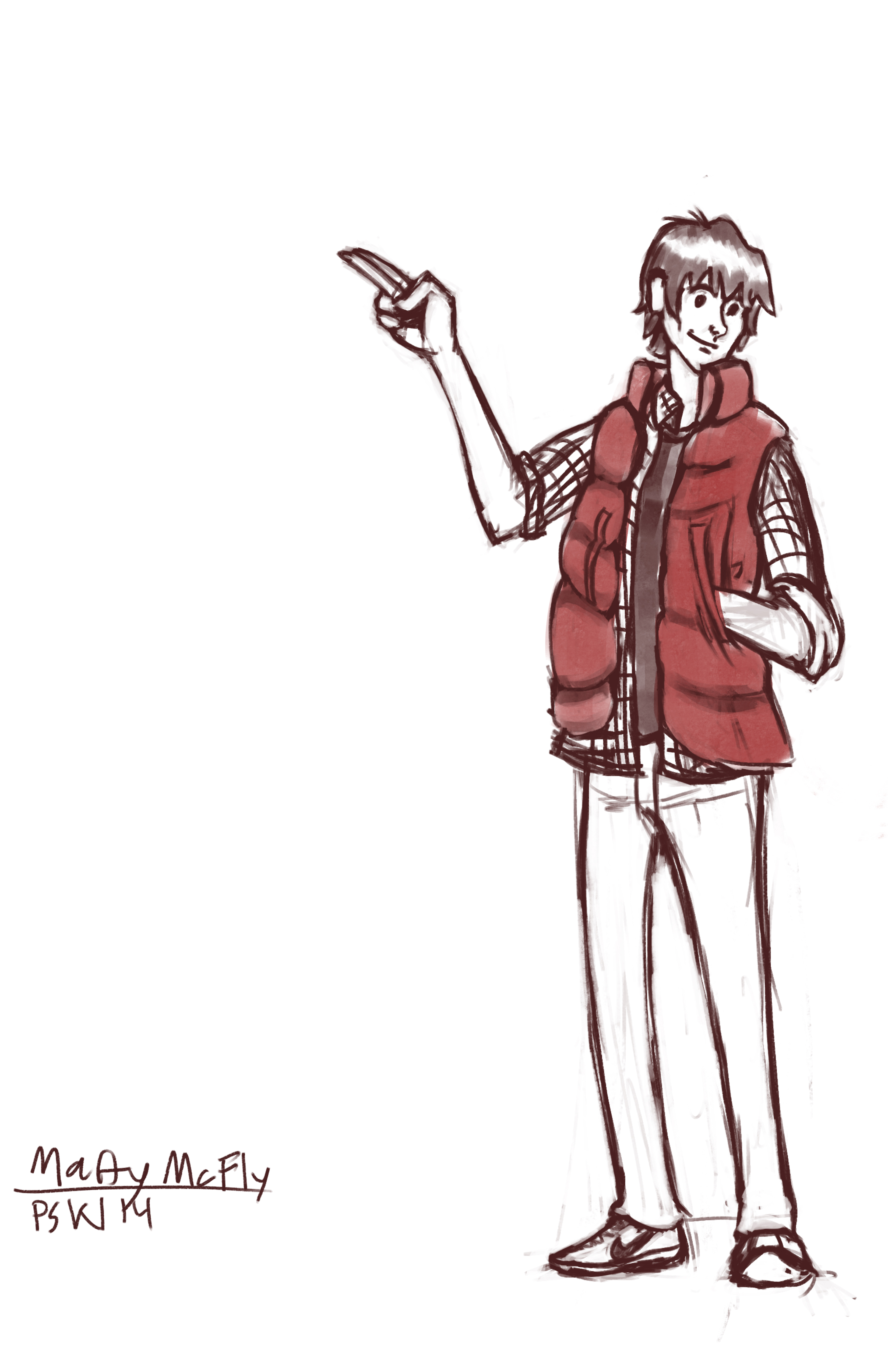 Marty McFly Sketch