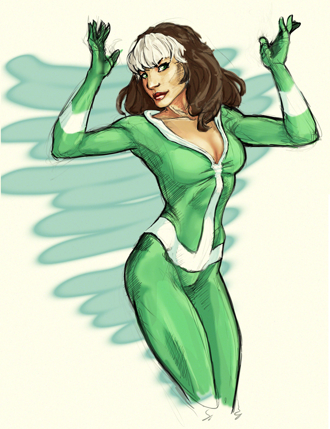 rogue inspired by Terry Dodson