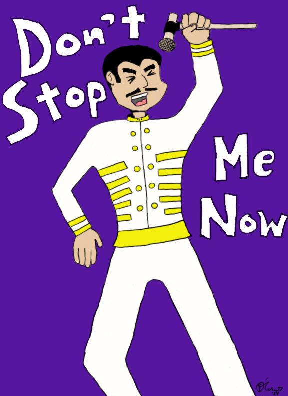 Freddie Mercury Cartoon Shit