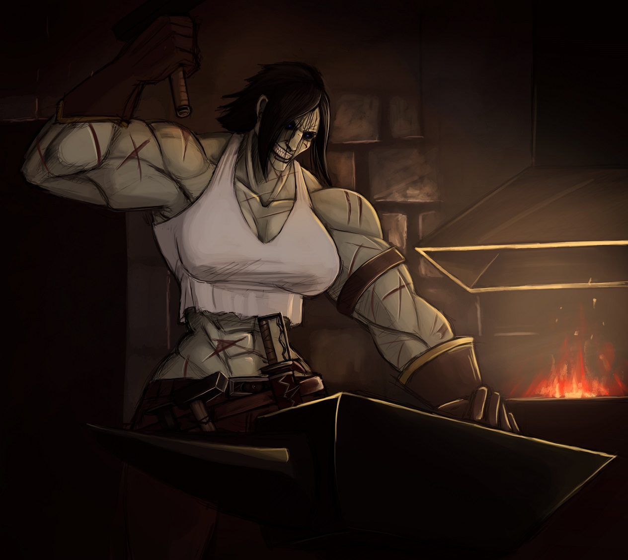 The Blacksmith by SurrealKatie on Newgrounds