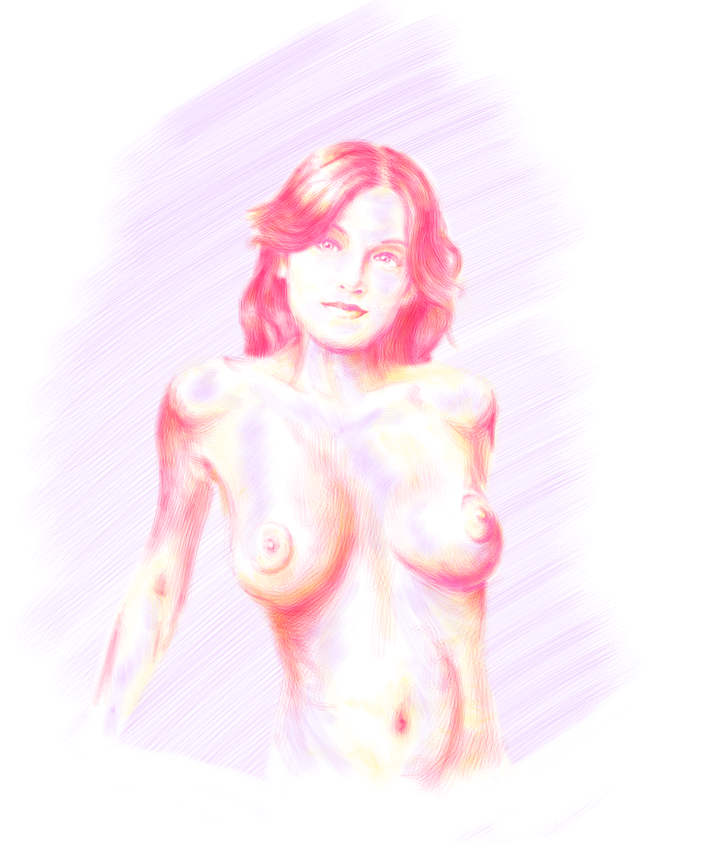 Purple-Yellow Woman