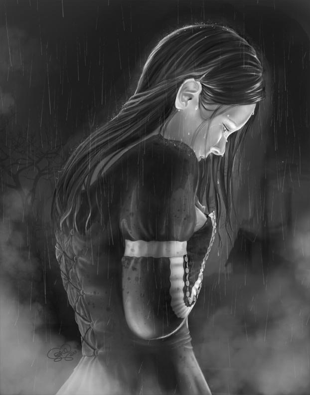 Sorcha in the Rain