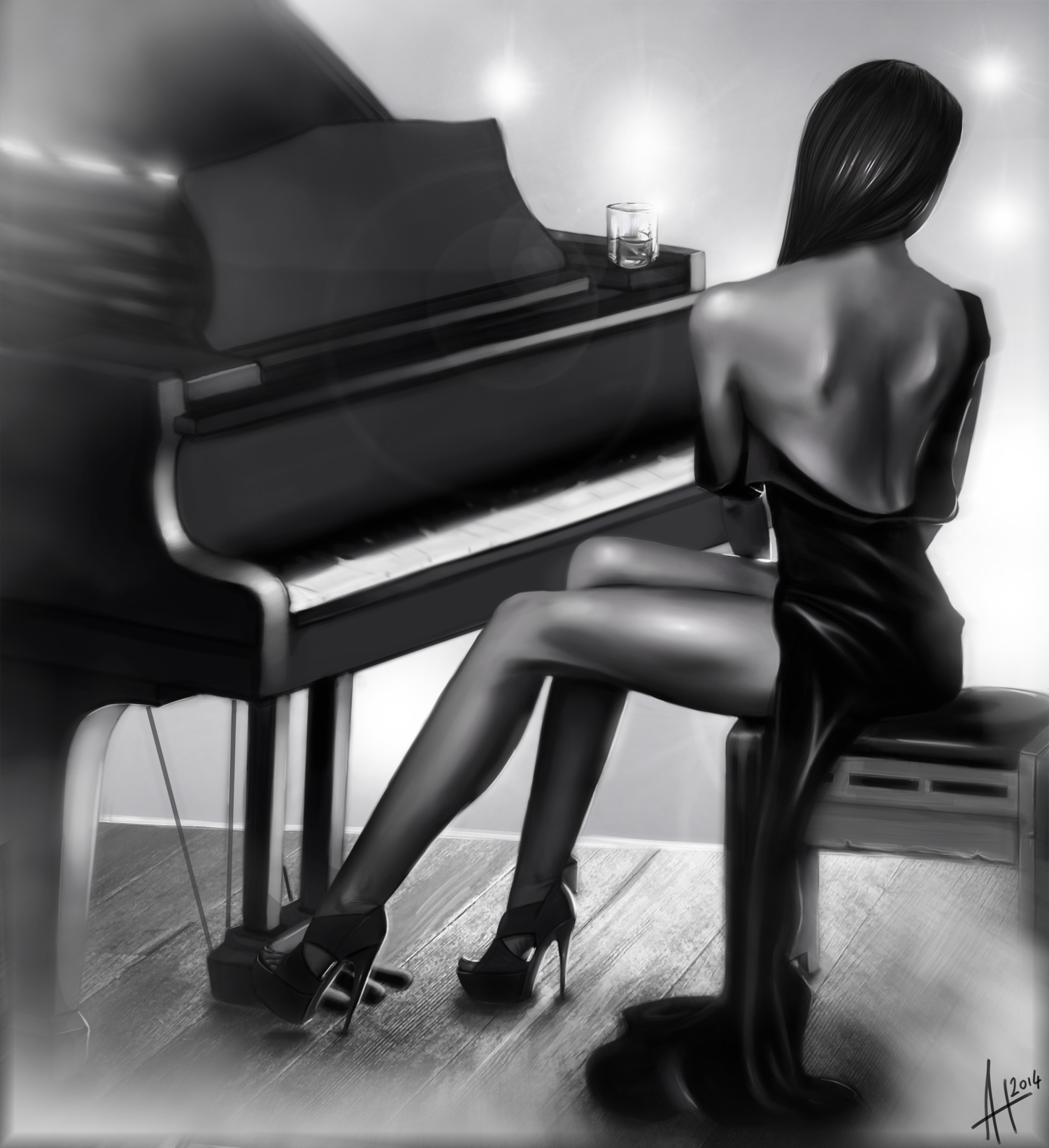 Girl on the piano