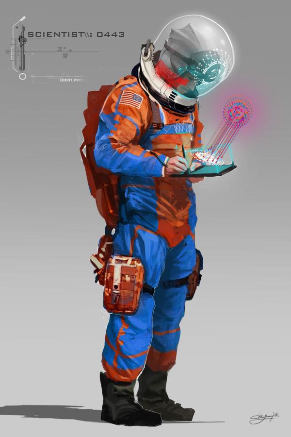 Futuristic Scientist
