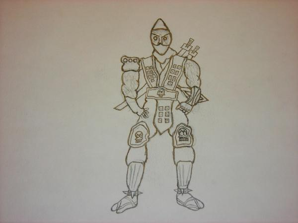 Detailed Drawing of Scorpion