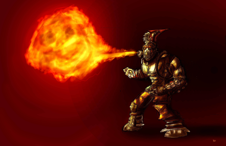 Firebreathing Krieg