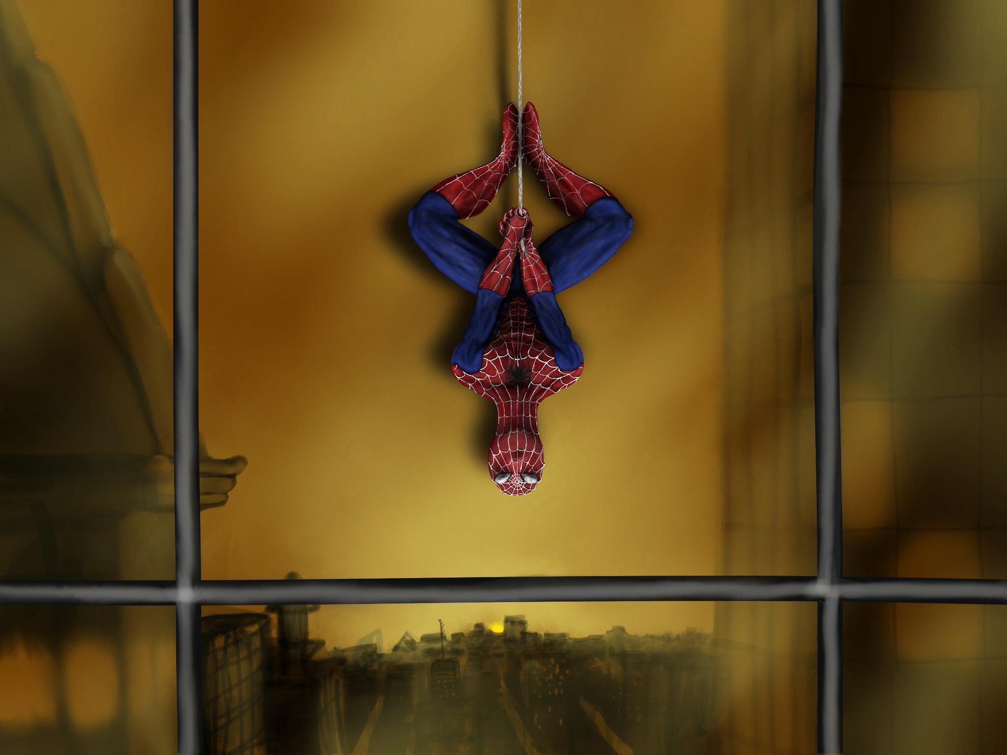 Spiderman enjoying the view