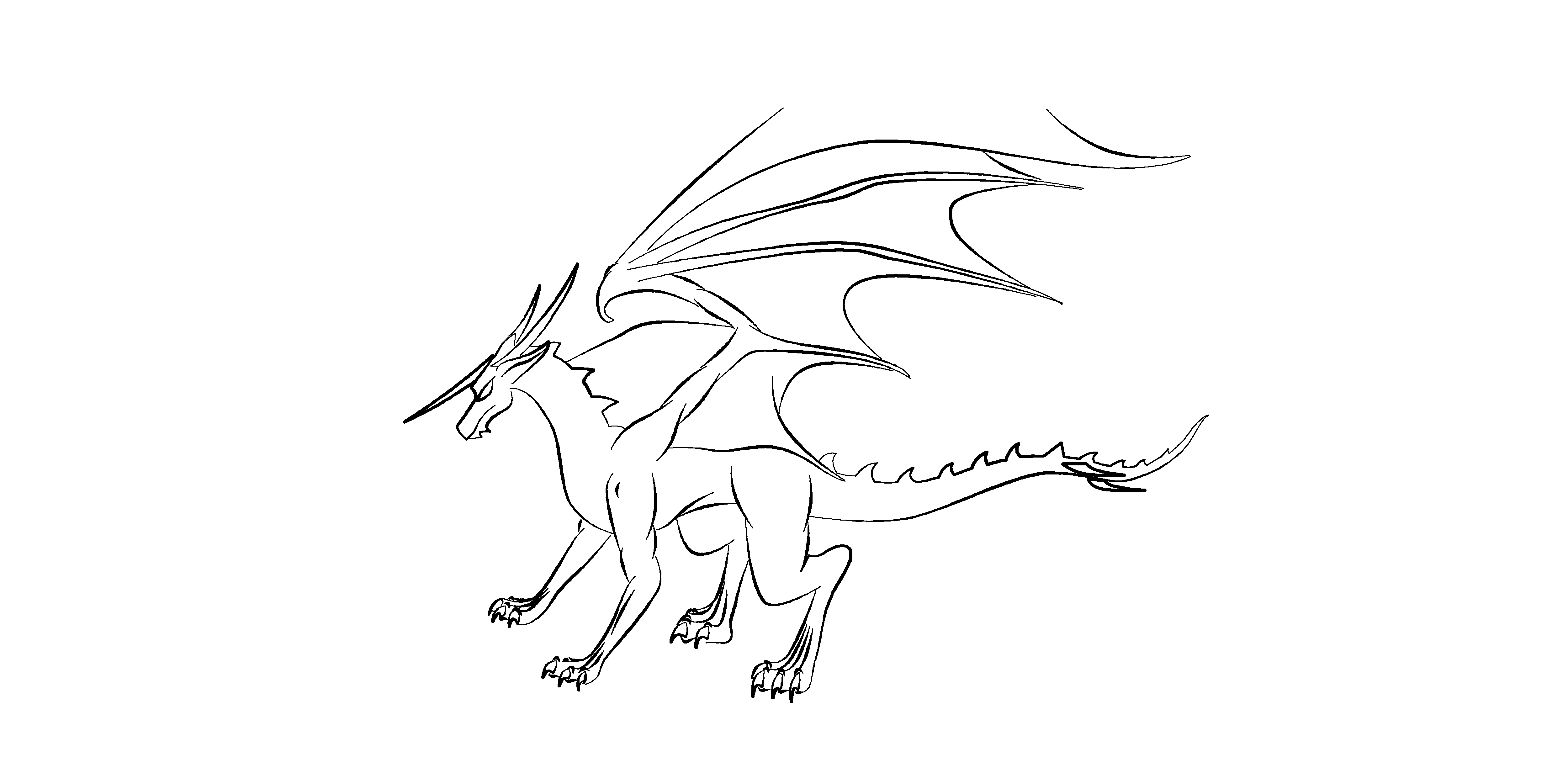 Dragon Outline