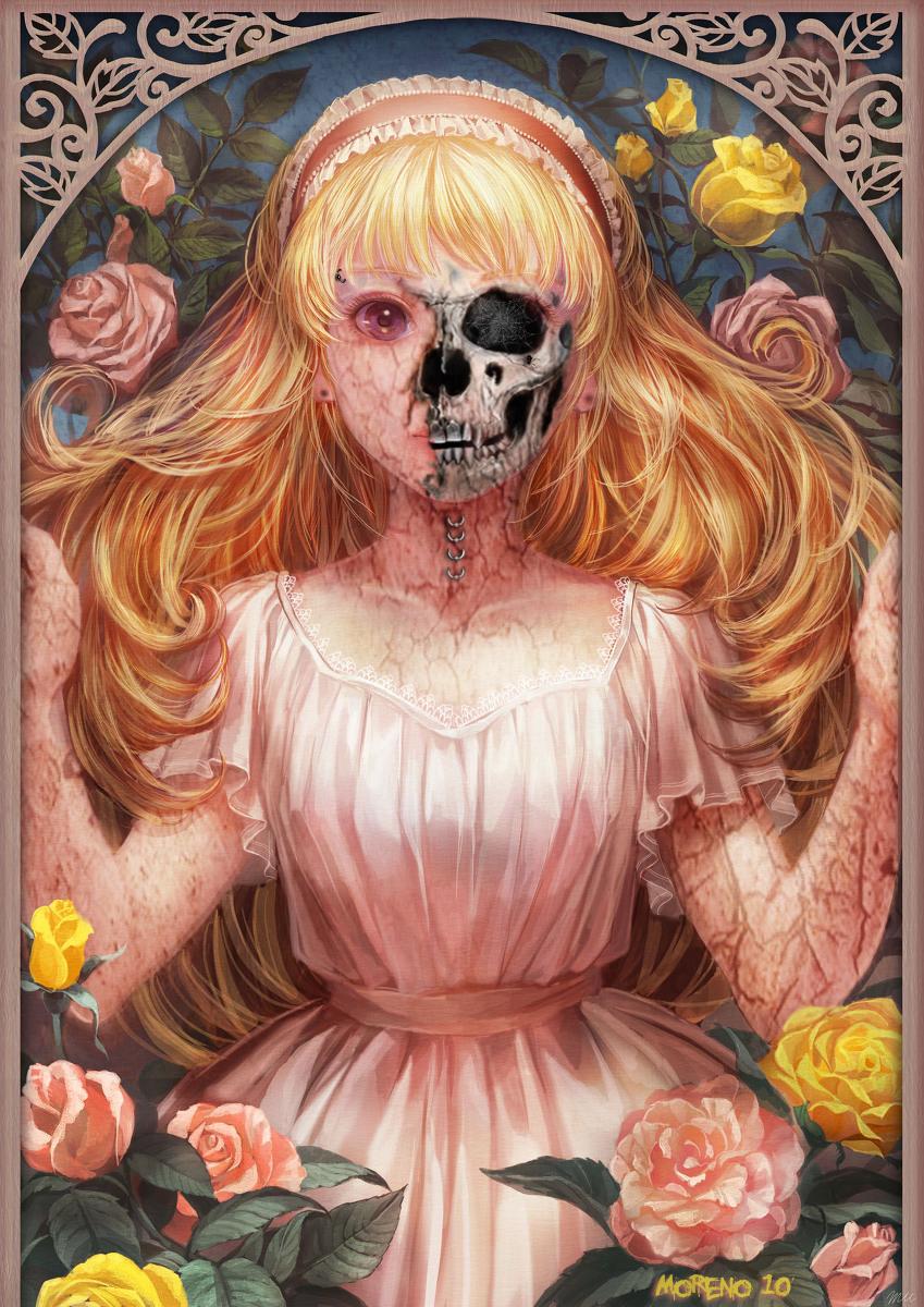 Girl Rose Zombie