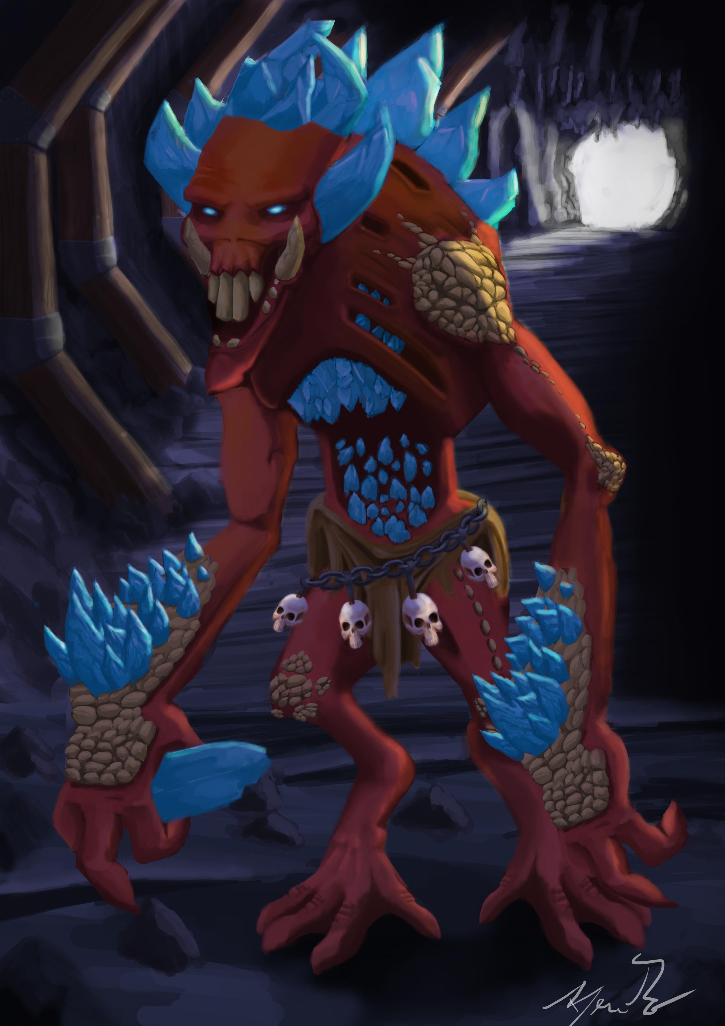 crystal troll