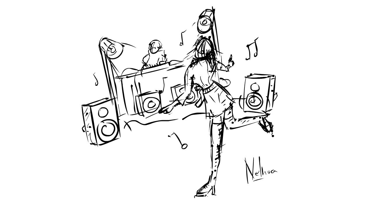 DJ make people dance