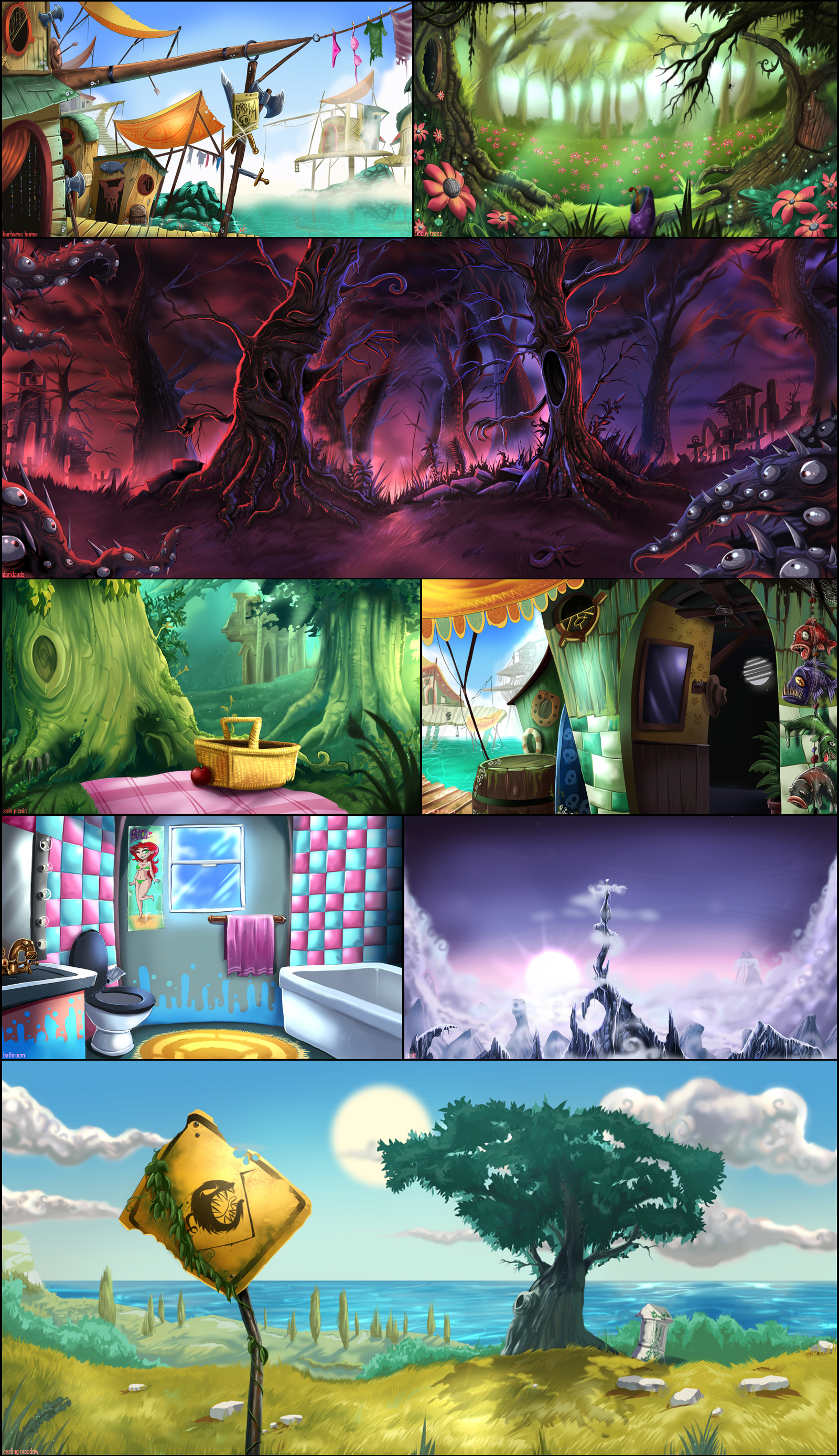 Rayman Backgrounds
