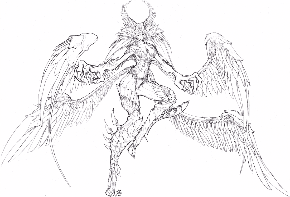 Garuda Sketch