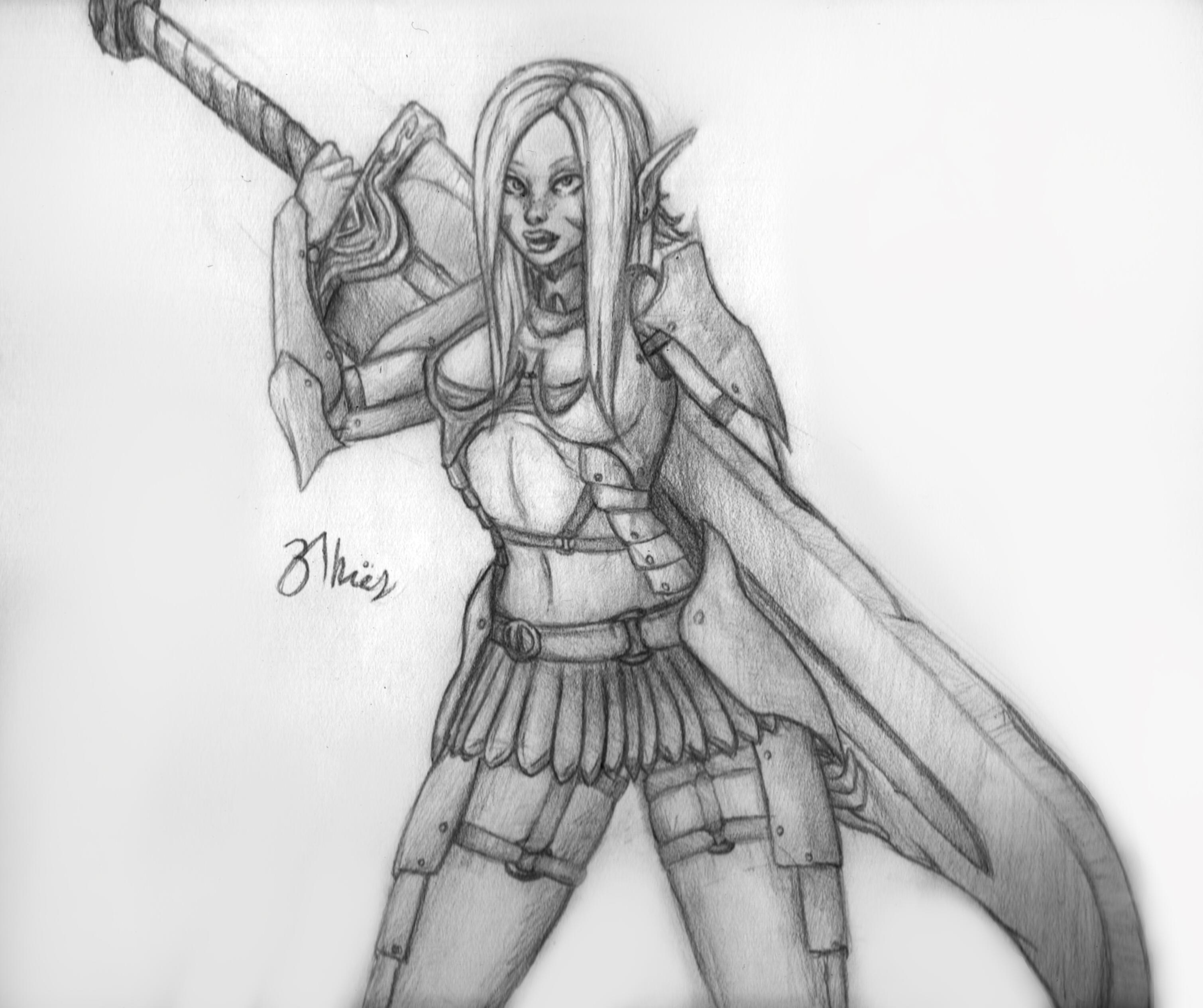 Elf sword girl