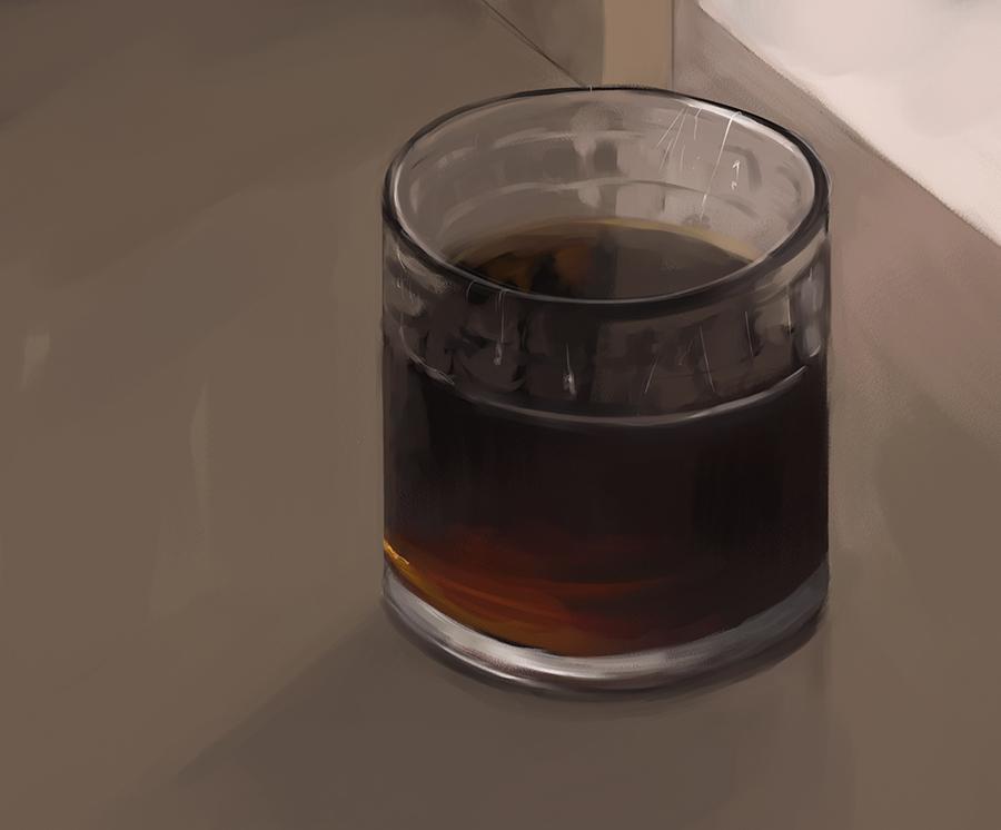 glass of pepsi study
